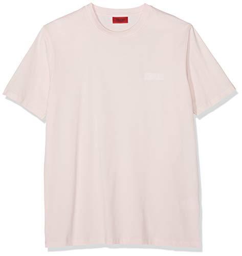 HUGO Herren Durned U5 T-shirt , Rosa (Light/Pastel Pink 683) , Large