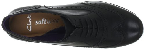 Clarks Hamble Oak 203467135065, Chaussures basses femme Noir (Black Leather)