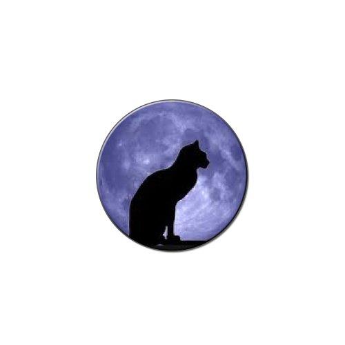 Black Cat Moon–Halloween Metall Revers Hat Shirt Tasche Geldbörse Pin Badge Krawattennadel Pinback (Halloween Geldbörsen)