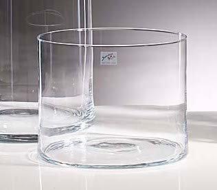 Glasvase Vase Glas Blumenvase Tischvase Zylinder 20 cm