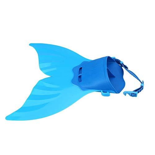Outtybrave Kinder Schwimmflossen Schwimmhilfe Fußflossen Tauchen Schwimmen Meerjungfrau Flosse Flosse, blau, 40 * 40 * 18cm