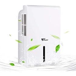 Amzdeal 1500ML Deumidificatore Elettrico per Ambienti - con Display LCD, Deumidificatore d'Aria Portatile Compatto Contro la Muffa e L'umidità per Ambienti,Casa, Armadio o Garage