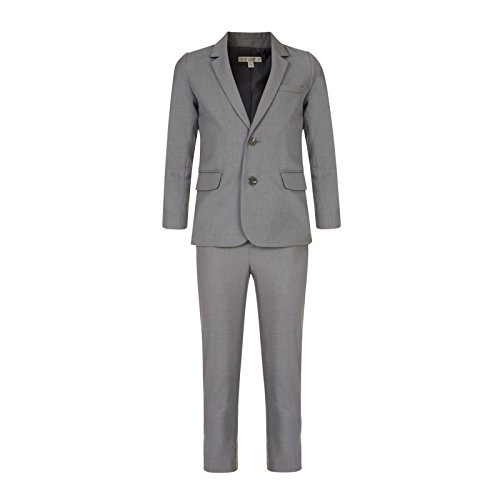 BOYS SUIT JOHN ROCHA DESIGNER FORMAL SUIT SILVER GREY