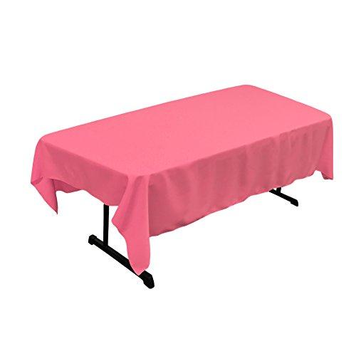 La Leinen Polyester Popeline Tischdecke, rechteckig, Polyester, Hot pink, 152.4 x 213.3 x 0.04 cm (Hot Pink Tischdecke)