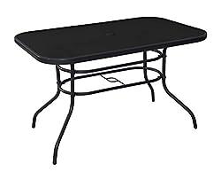 Havnyt Pacific 6 Seater Garden Patio Table in Silver or Black (Black)