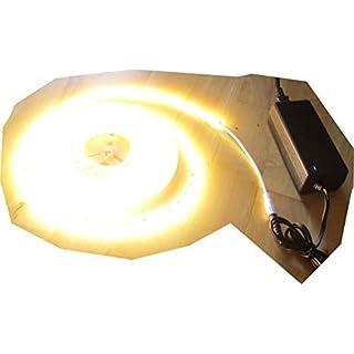 SET 12200 Lumen 5m X-Ultra-Highpower LED Streifen mit 600 2835 LED's warmweiß weiss superhell inkl. Netzteil 24V Pro-Serie TÜV/GS geprüft von AS-S