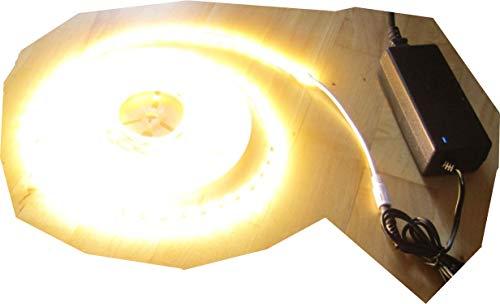 ASS HIGHPOWER SET LED Strip Streifen Leiste SUPERHELL 6600Lumen 5mt warmweiß weiß 300x2835LED 72Watt mit Netzteil