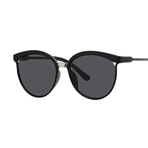 Daawqee Black Cat Eye Sunglasses Women Designer Retro Cateyes Glasses Female Frame Oval Eyewear UV400 Eye Ladies Glasses Gray