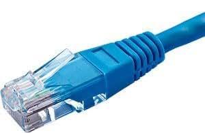 Cables UK Cat5e UTP 24AWG Überschlag 4blau, 1Paar 3M