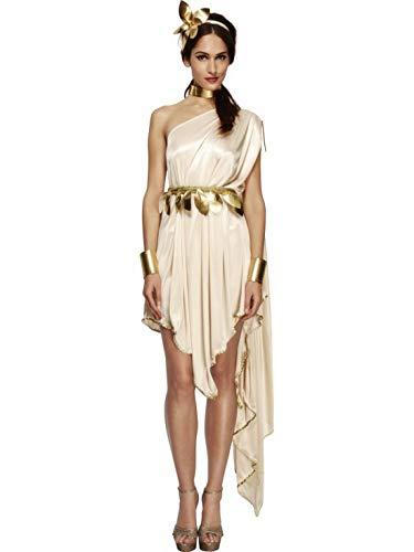 Luxuspiraten - Damen Frauen Göttinnen Kostüm mit Kleid, goldenem Gürtel, Armmanschetten, Halsband und Haarreif, perfekt für Karneval, Fasching und Fastnacht, L, - Goldene Göttin Kostüm Frauen