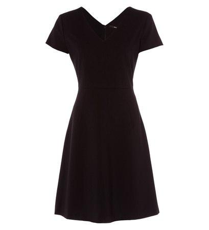 zero Damen Kleid mit V-Ausschnitt 313862 black 38