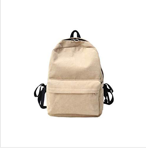 OneMoreT Rucksack für Teenager, Kord, für Reisen, Schulranzen beige