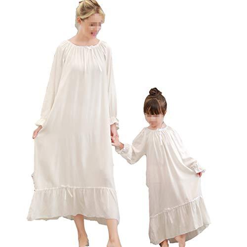 sito affidabile bd2e7 f0ff9 Gagacity Camicia da Notte da Donna Bambina 100% Cotone Vintage Vestito Lunga