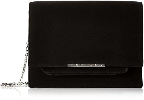 Buffalo Damen Bag 16bwg-38 New Velvet Umhängetasche, Schwarz (Black 01), 7 x 19 x 24 cm