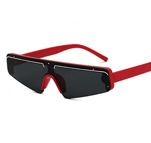 Preisvergleich Produktbild SIMINGSHUAI Kleine Quadratische Sonnenbrille Schwarzer Rahmen Rechteckige Sonnenschirme Im Freien Schattenstrand Brille B