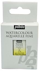 Pébéo Peinture Aquarelle Fine 1/2 Coulé Jaune Citron Primaire