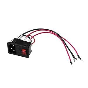 Heaviesk 3DSWAY 3D-Druckerzubehör Netzteil-Stecksockelmodul 220V / 110V 10A mit Sicherung
