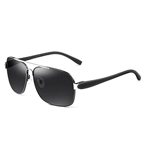 Ppy778 Vintage Retro Polarisierte Sonnenbrille Für Männer Outdoor-Sport Ultraleichte Metallic Metallrahmen HD Objektiv Gläser Air Force Unisex UV 400 Schutz (Color : 2)