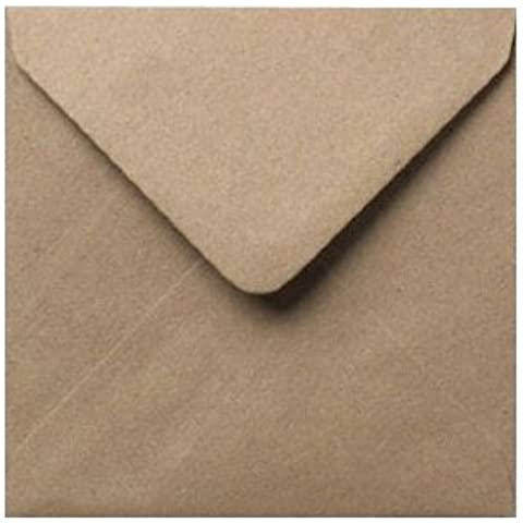 "15,24 cm (6"") mm/155-Buste in carta Kraft con puntini di Mad as a Crafter, Fleck Kraft, 155mm x 155mm - 6 inch"