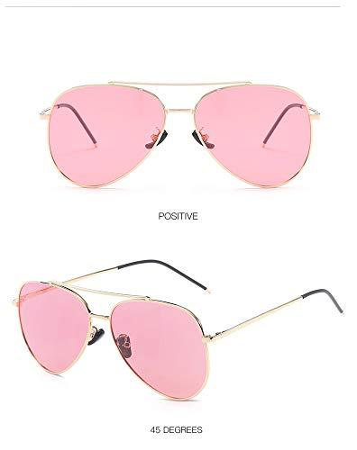 ZJWZ polarisierte Sonnenbrillen Trend Bunte Sonnenbrillen Metal Unisex Gläser,goldoceanpowder