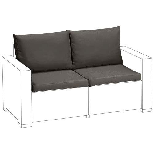 gardenista grau Ersatz 4-tlg. Sitzkissen Set für Keter Allibert Kalifornien außen Rattan 2-Sitzer Sofa