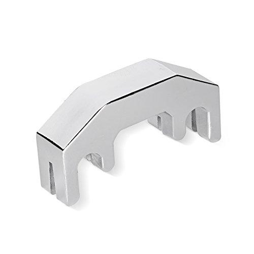 Metall-dämpfer (Neewer® Professional einfachen Praxis Dämpfer für 1/2, 3/4, 4/4Violine, hergestellt aus robustem und haltbarem chrom Metall-Silber)