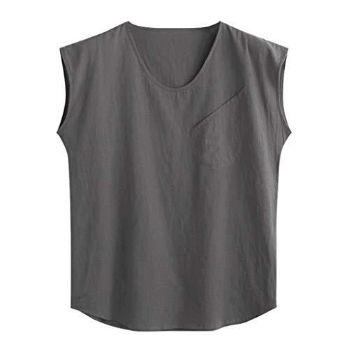 Mesh-muskel-shirt (LILICAT Herren Tank Top Unterhemd mit Rundhals Männer Sleeveless Workout Muskel Bodybuilding Tanktops Shirts Freizeit Einfarbig Ärmellos Training Tank)
