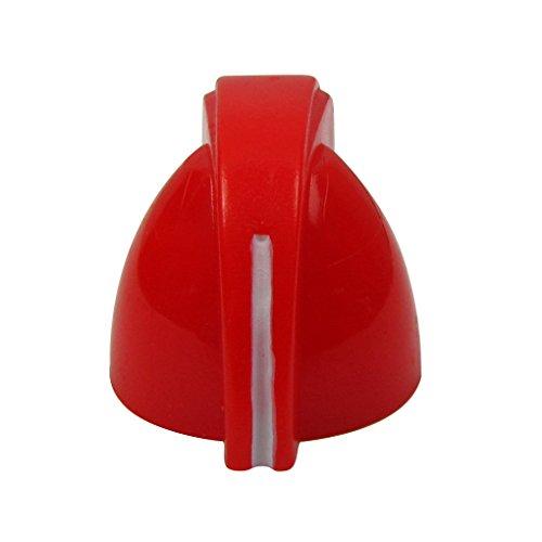 IKN pollo stile testa manopole di plastica per chitarra Amplificatore per basso Amplificatore, Rosso (pacchetto di 24 pezzi)