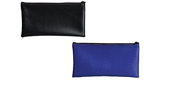 04621 6 Bags 11 X 6 Inches PM Company Securit Bank Deposit // Utility Zipper Coin Bag Black