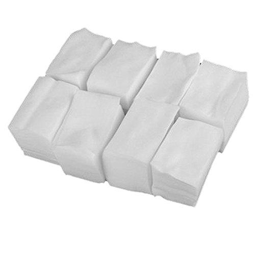 Lumanuby 900 PCS Carre Cellulose En Coton Nail Art Cellulose Coton Carré pour Nail Art Ongle Manucure Ongle Lingettes Wipes Jetable