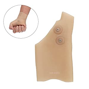 ROSENICE Compression Gloves Single Magnetic Therapy Gloves Silicone Wrist Support Brace with Thumb Hole for Hand Arthritis Pain Relief
