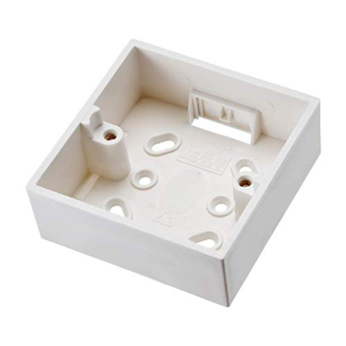 ZCHXD Surface Mount Wall Switch Socket Box Outlet Single Gang 86 Type White Gang Surface Mount Box