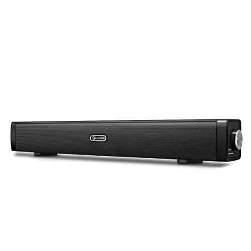 EIVOTOR PC Lautsprecher, USB Lautsprecher Computer Soundbar USB Player Box Soundsystem für Fernseher Wired Speaker USB Powered Sound Box für PC Notebook Laptop Smartphone und TV mit 3.5mm AUX Port - Bar Sound Pc-lautsprecher