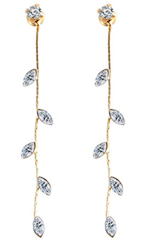 SaySure - 17KM Crystal Drop Earrings for Women Gold and Silver Plated