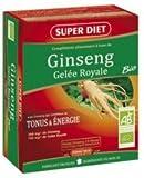 Super diet - Ginseng (panax pur) bio - 150 gélules - Tonus et énergie physique et cérébrale retrouvé