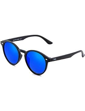 Gafas de sol TWIG POLLOCK redondo espejo hombre/mujer (Negro/Azul)