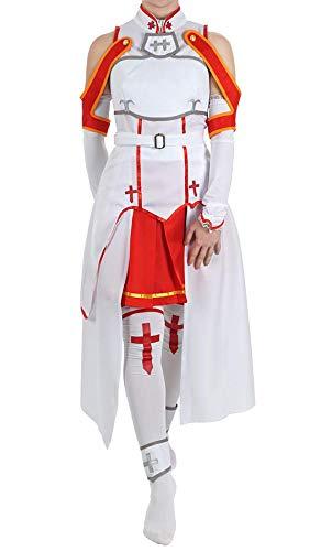 Cosplay Kostüm Yuuki - Tianxinshop Anime Yuuki Asuna Cosplay Kostüm Cos Japanese Anime- rot / weiß