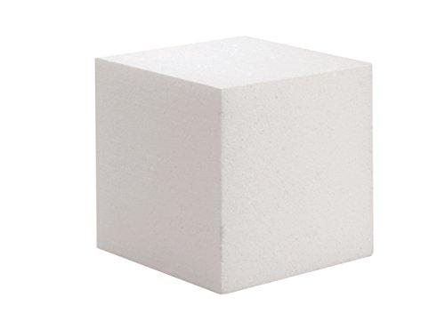 GLOREX Styropor Würfel, Weiß, 15 x 15 x 3 cm