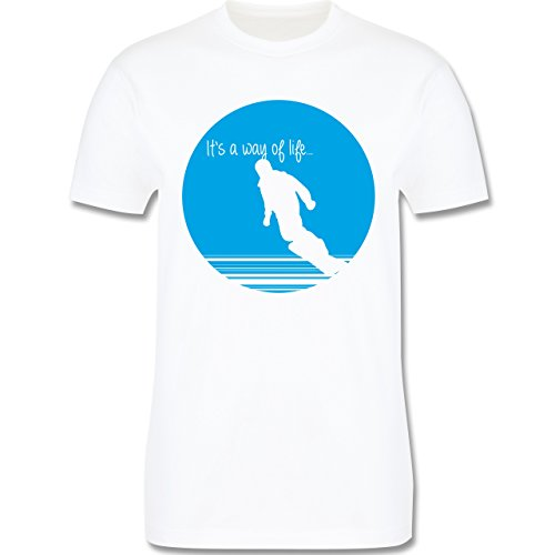 Après Ski - It's a way of life - Snowboarder - Herren Premium T-Shirt Weiß