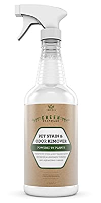 Pet Stain & Odor Remover - With Advanced Enzymatic Formula - Best for Removing Old & New Pet Stains from Both Dogs & Cats - Eliminates Odors - Safe for Use on Carpet, Tile & More - 32 OZ - TriNova