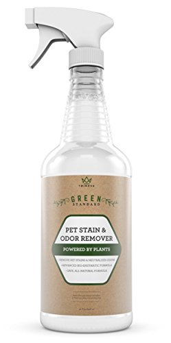 Pet Stain & Odor Remover – With Advanced Enzymatic Formula – Best for Removing Old & New Pet Stains from Both Dogs & Cats – Eliminates Odors – Safe for Use on Carpet, Tile & More – 32 OZ – TriNova