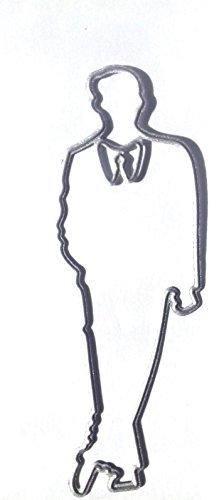Universal-Stanzform, Schablone Carbon Stahl für Scrapbooking und dekorative Verzierungen. Solo, Single Mann, Abendessen Anzug, James Bond, Bräutigam, Best Man, formelle tragen -