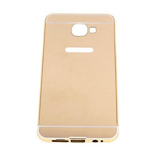 super popular e35be 87c3e Johra For Samsung Galaxy On Nxt (2016) Back Cover, Gold Golden Acrylic  Mirror Back Cover Case with Bumper Case for Samsung On Nxt Mirror Back Cover