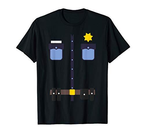 Police Uniform Halloween-Kostüm Idee T-Shirt