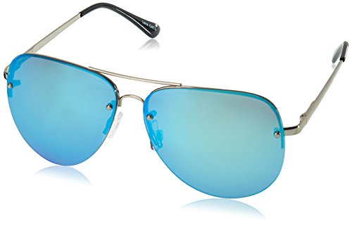 Quay Eyewear Unisex Sonnenbrille MUSE, Gr. One size, Silber (SLV/BLUE MIRROR)