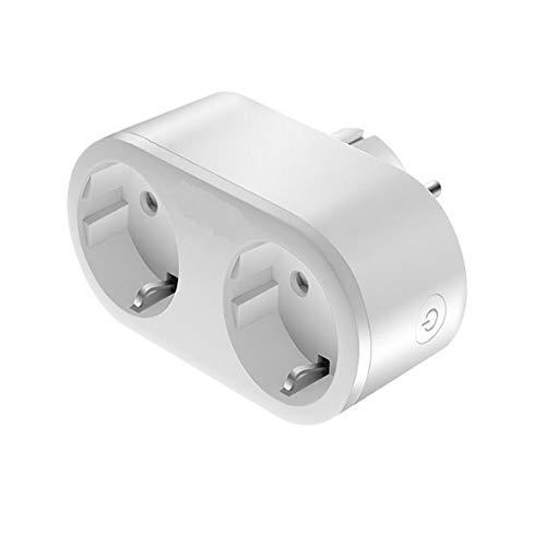 0 ℃ Outdoor 2 Ausgänge WiFi-Anschluss, Dual-Remote-Anschluss, Alexa/Google Home/IFTTT-kompatibel, 16A-Stromverbrauchsanzeige (1 Packung)