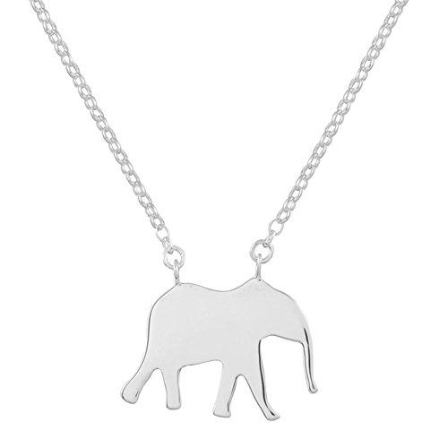 Colgante elefante de plata esterlina hecho a mano para mujer.