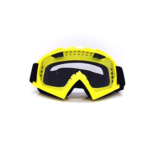 Beydodo Skibrille Unisex Motorrad Brille Herren Sicherheitsbrille Brillenträger Gelb Durchsichtig...
