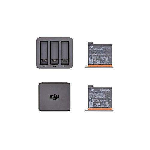 DJI Osmo Action Part 6 - Hub di Ricarica per Batterie DJI Osmo Action Camera, Kit Contiene e Carica fino a 3 Batterie, Accessori di Ricarica, 2 Batterie Incluse, fino a 130 Minuti per Carica Completa