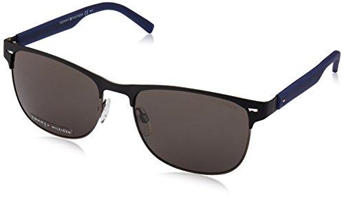Tommy Hilfiger Herren TH 1401/S NR R51 56 Sonnenbrille, Blau (Mttblck Blu/Brown Grey),